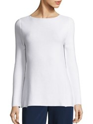 Piazza Sempione Cotton A Line Rib Knit Tunic
