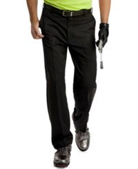Izod Flat Front Microfiber Golf Pants Black