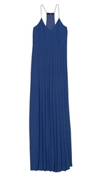 Tibi Silk Long Pleated Dress