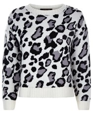 Jaeger Donna Ida For Early Edie The Leopard Curved Jumper A Modern Animal