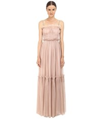 Just Cavalli Woven Cami Strapped Gown Tan Women's Dress