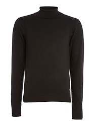 Duck And Cover Cast Stretch Turtle Neck Jumper Black