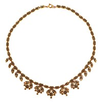 Alice Joseph Vintage 1950S Gold Toned Diamante Collar Necklace Gold