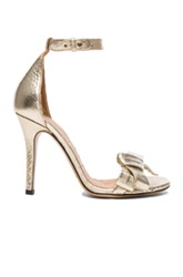 Isabel Marant Play Easy Leather Evening Sandals In Metallics