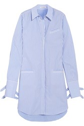 J.W.Anderson Striped Cotton And Gingham Shirt Dress Blue