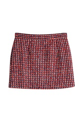 Paul And Joe Wool Jacquard Mini Skirt Multicolor