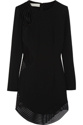 Stella Mccartney Mesh Paneled Stretch Cady Mini Dress