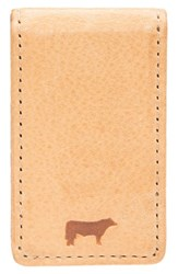 Men's Will Leather Goods 'Cibreo' Money Clip Beige Natural