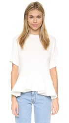 English Factory Flounce Tee White