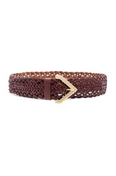 Linea Pelle 3 4' Open Braided Hip Belt Rust