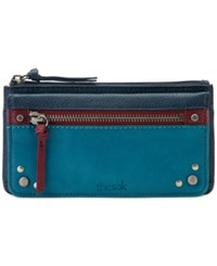 The Sak Sanibel Flap Wallet Blue