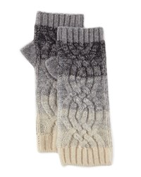 Neiman Marcus Cashmere Ombre Fingerless Gloves Grey Ivory