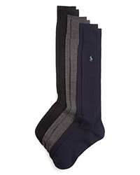 Ralph Lauren Solid Ribbed Dress Socks Pack Of 3