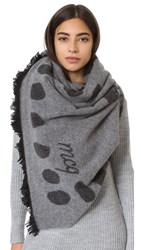 Mcq By Alexander Mcqueen Tribal Markings Jacquard Scarf Pearl Grey