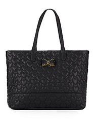 Betsey Johnson Be My Bow Tote Black