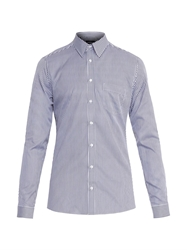 Gucci Slim Fit Striped Cotton Shirt