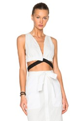 Thakoon Crop Top In White