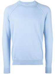 Malo Crew Neck Jumper Blue