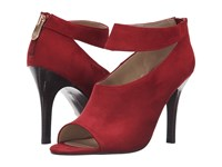Adrienne Vittadini Gratian Ruby Kid Suede Women's Shoes Red