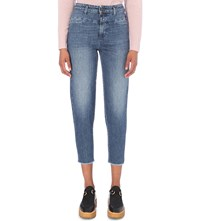 Closed Pedal Pusher Tapered Mid Rise Jeans Detached Pockets