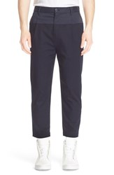 Men's Helmut Lang Pleated Stretch Twill Trousers