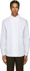 Christopher Kane White Poplin Zigzag Shirt