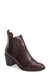 Steve Madden 'Imaginn' Cap Toe Chelsea Bootie Women Wine Leather