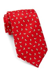Tailorbyrd Silk Bee Tie Red