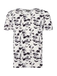 Label Lab Floral Ikat All Over Print Graphic White