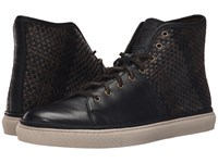 Frye Gates High Black Antique Pull Up Woven Men's Lace Up Casual Shoes Brown