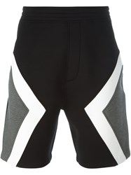 Neil Barrett Colour Block Track Shorts Black