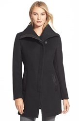 Women's Soia And Kyo 'Jana' Asymmetrical Wool Blend Coat Black