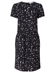 John Lewis Collection Weekend By Bird Print Dress Black Ivory