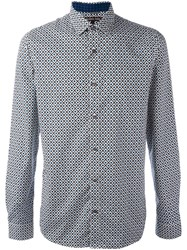 Michael Kors Geometric Print Shirt White