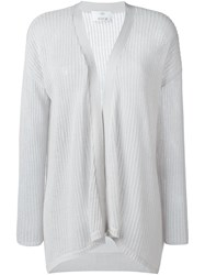 Allude Open Front Cardigan Grey