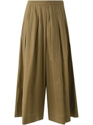 Muveil Pleated Culottes Green