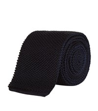 Tom Ford Knitted Tie Unisex Navy