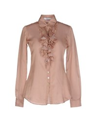 Aglini Shirts Shirts Women Light Brown