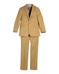 Appaman Modern Twill Two Piece Suit Sand Brown