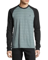 Penguin Striped Long Sleeve Raglan Tee Trooper