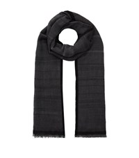Eskandar Two Tone Cashmere Scarf Female Black