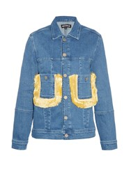 House Of Holland Fringed Embellished Denim Jacket