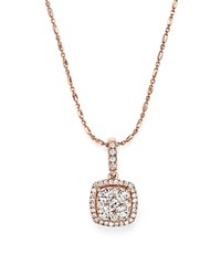 Bloomingdale's Diamond Pendant Necklace In 14K Rose Gold .65 Ct. T.W. White Rose