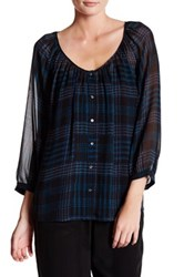 Joie Vorda Sheer Silk Blouse Black