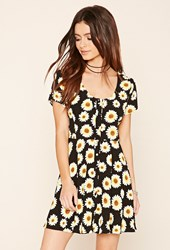 Forever 21 Sunflower Print A Line Dress