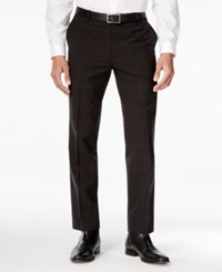 Inc International Concepts Men's Classic Fit Windowpane Check Dress Pants Only At Macy's Black