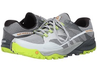 Merrell All Out Charge Grey Lime Green Men's Shoes Gray