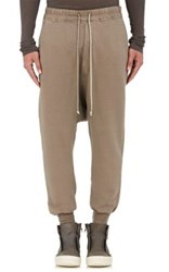 Rick Owens Drkshdw Men's Cotton Fleece Prisoner Sweatpants Grey