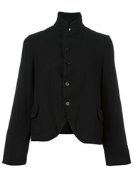 Comme Des Garcons High Standing Collar Blazer Black