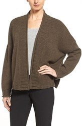 Nordstrom Women's Collection Open Front Shawl Collar Cashmere Cardigan